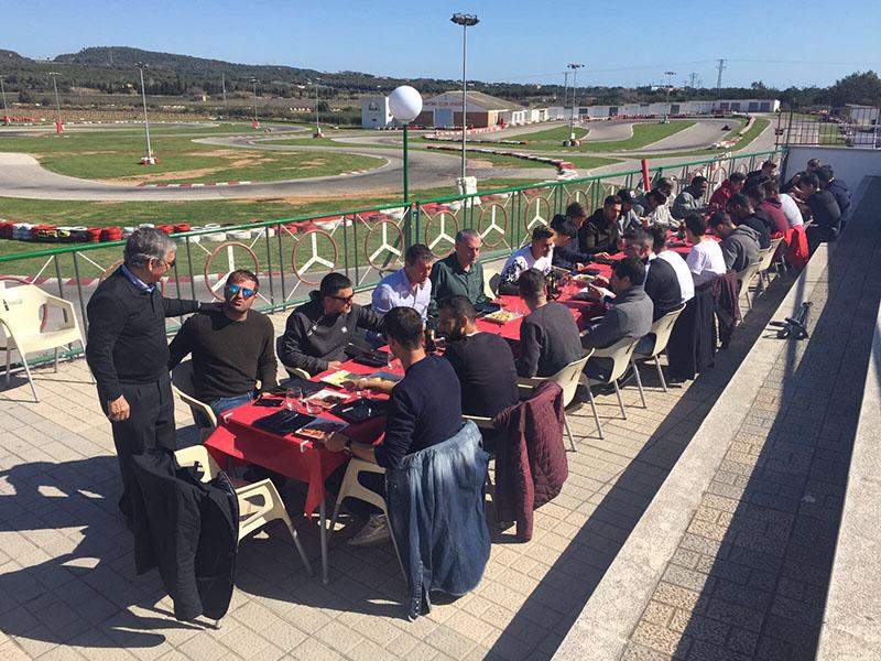 FC Barcelona B en Karting Vendrell - Comida y catering 2