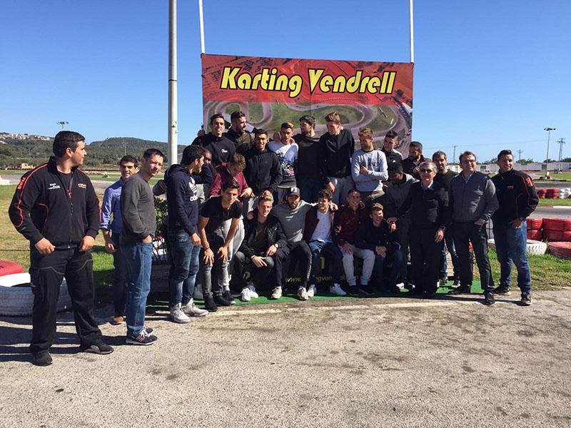 FC Barcelona B en Karting Vendrell - Podium Karting