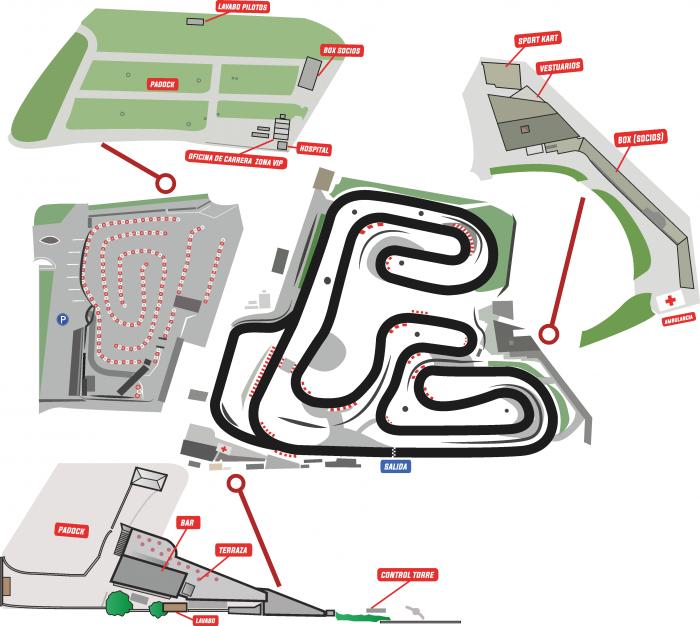 Instalaciones comunes - karting Vendrell