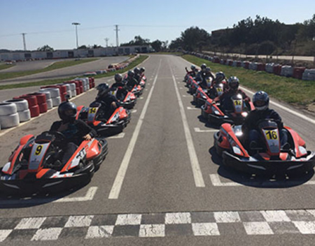 parrilla salida RT8 en Mini GP Gran Premio de Karts en Karting Vendrell