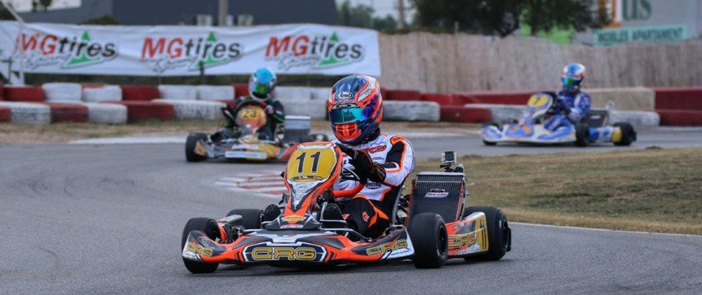 Carlos Gil con CRG en el Karting Vendrell